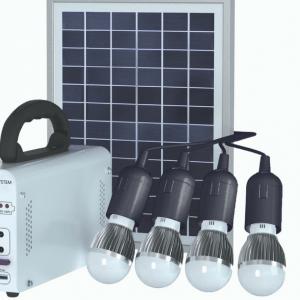 kit solar con 4 bombillas electronica pks