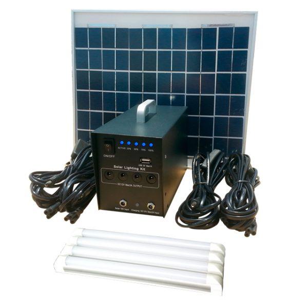 KIT SOLAR CON 4 BARRAS LEDS 10W   MODELO 2021